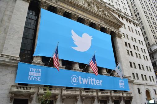 Banner Di Social Media Sulla Borsa Di New York - Fotografie stock e altre immagini di Affari