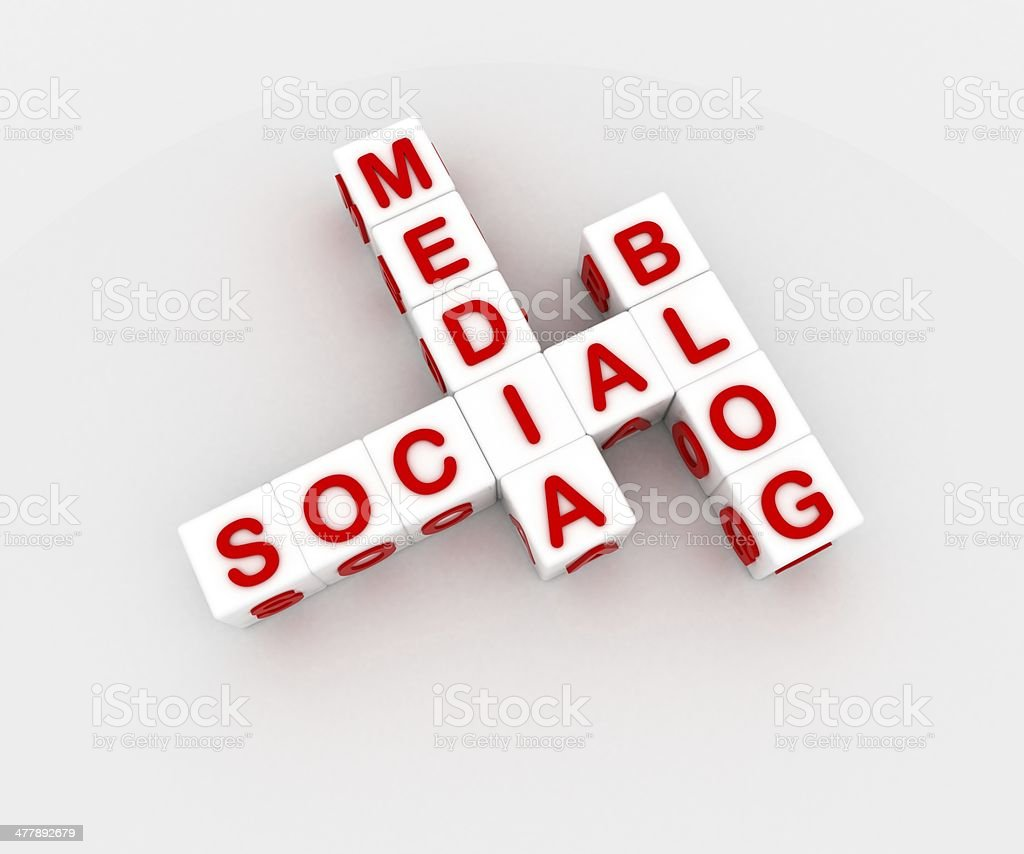 Social media blog royalty-free stock photo