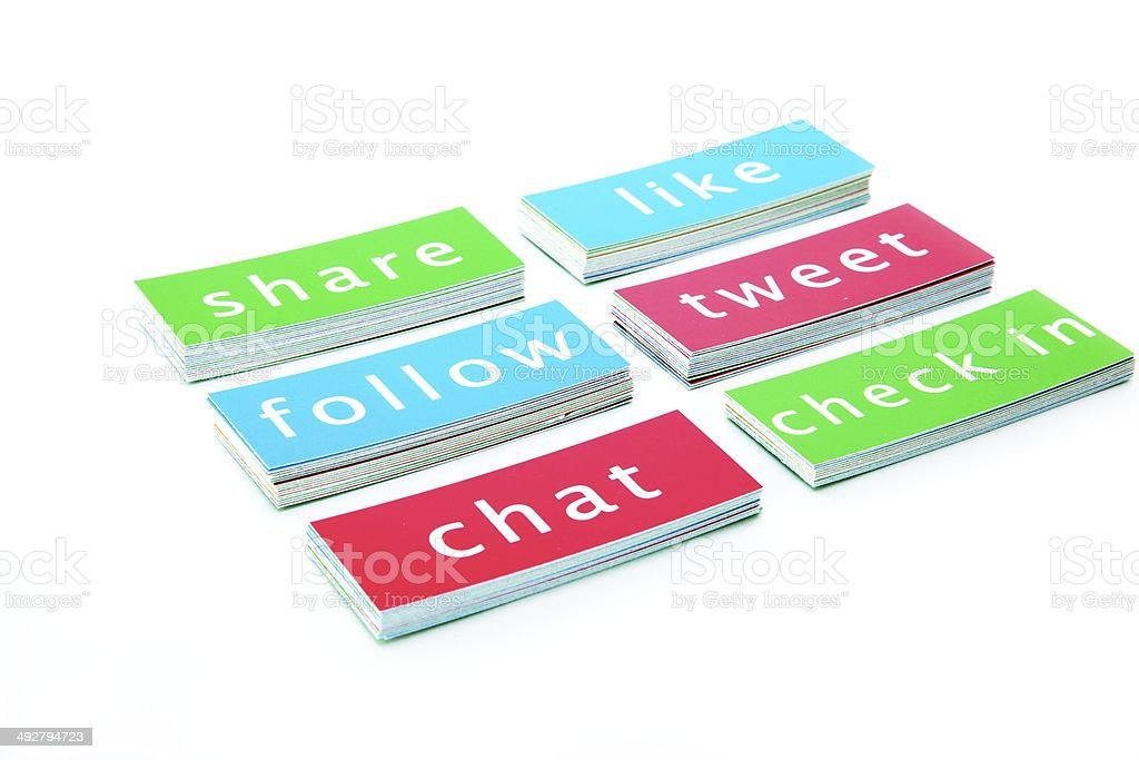 Social Media Buzz Words stock photo