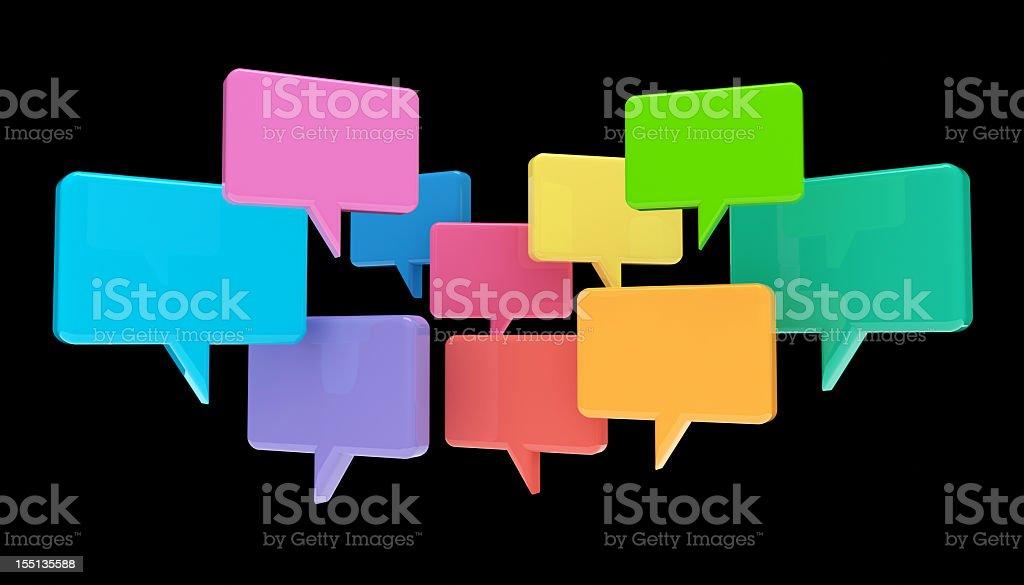 Social Media Chat Bubbles stock photo