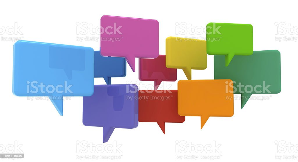 Social Media Chat Bubbles royalty-free stock photo