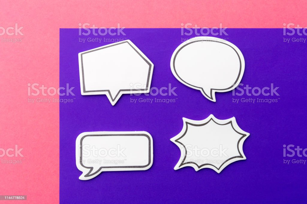 Social Media Chat Concept. Blank empty chat bubble for text