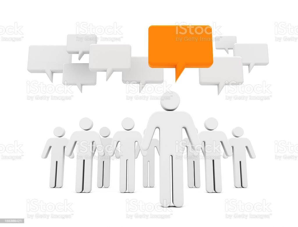 Social Media Chat stock photo