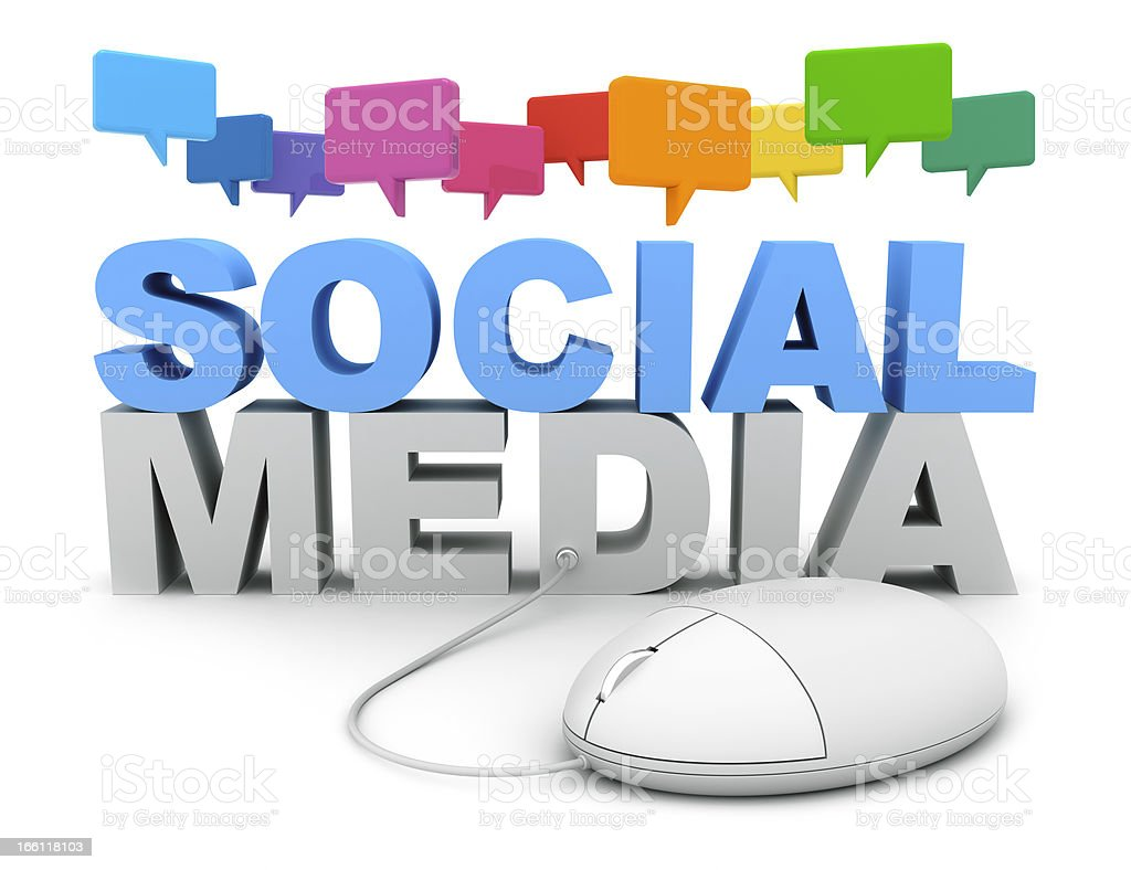 Social Media Chat royalty-free stock photo