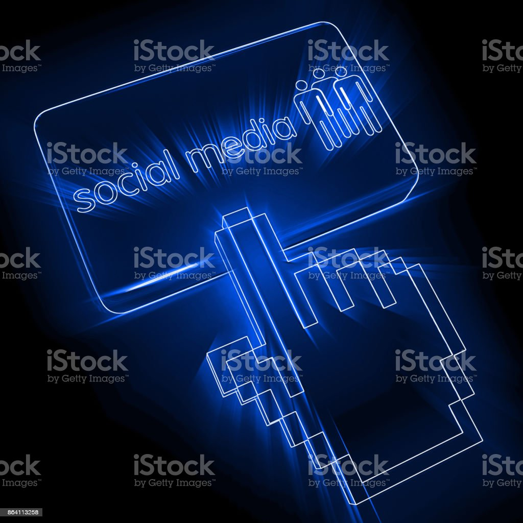 Social media communication button royalty-free stock photo