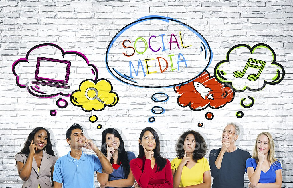 Social Media Communications Group royalty-free stock photo
