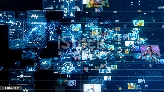 913589018 istock photo Social media concept. Network of business. 1140691224