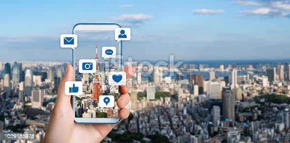 istock Social media concept. 1029185978
