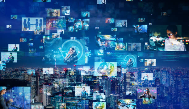 sosyal medya konsepti. - medya stok fotoğraflar ve resimler