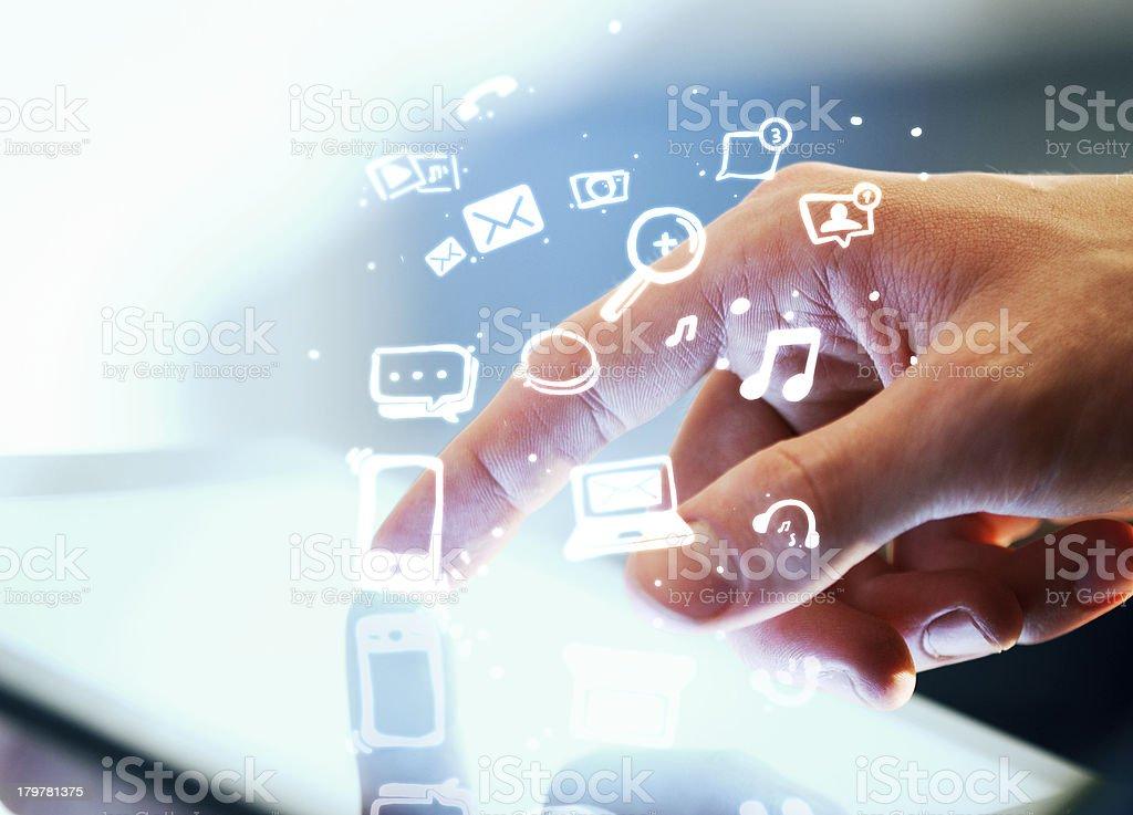 social media concept royalty-free stock photo