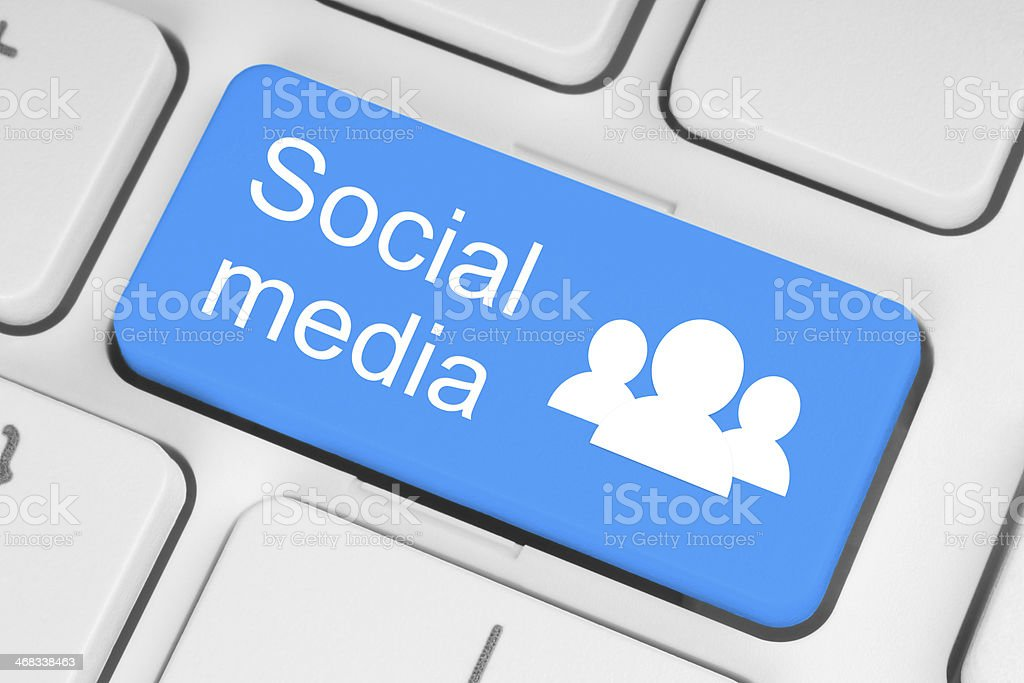 Social-media-Konzept - Lizenzfrei Ausrüstung und Geräte Stock-Foto