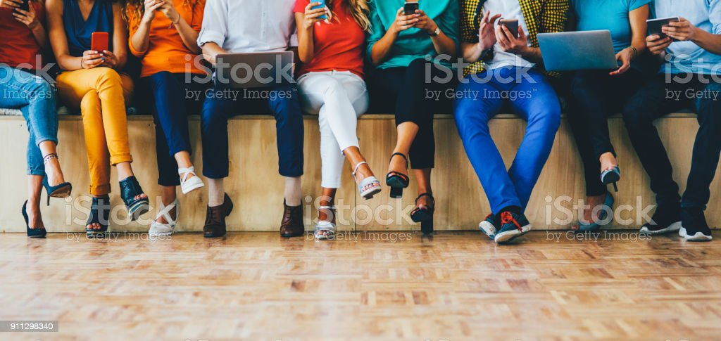 Social media concept - Royalty-free Adult Stock Photo