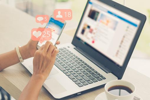 Concepto De Medios Sociales Foto de stock y más banco de imágenes de 2018