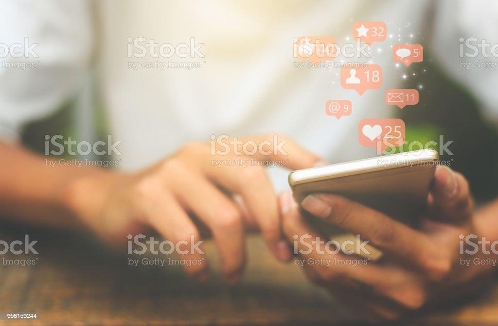 Sociala medier koncept. - Royaltyfri 2018 Bildbanksbilder