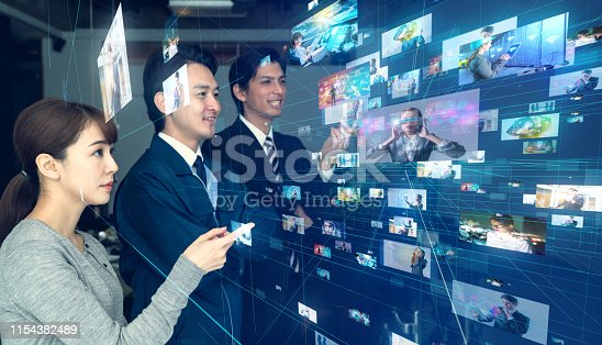 1029147344 istock photo Social media concept. Streaming video. 1154382489