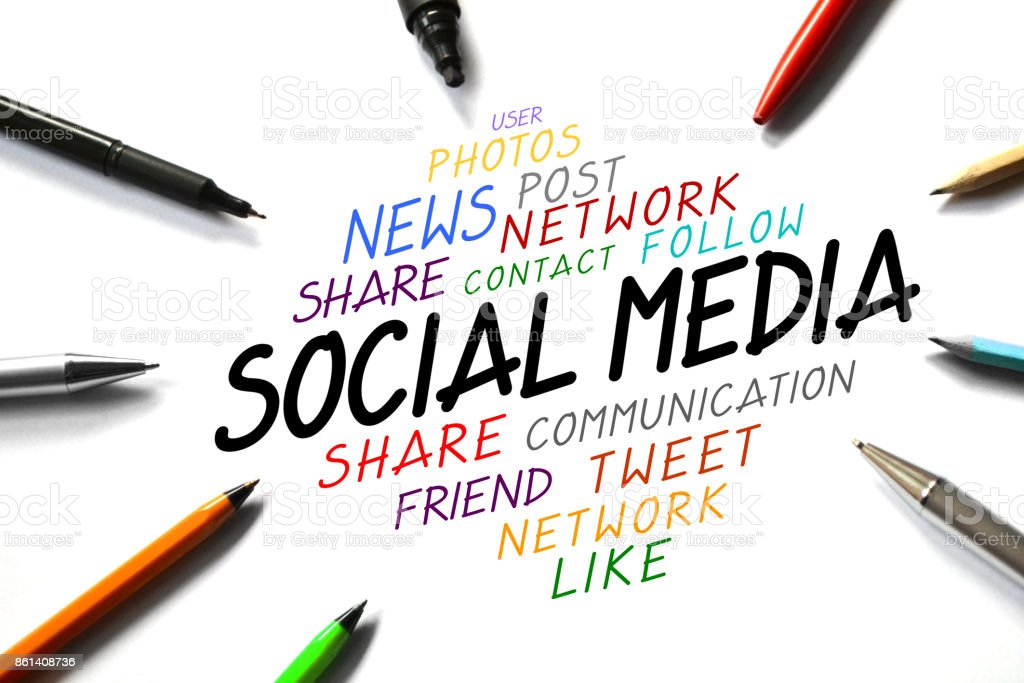 Social media conept stock photo