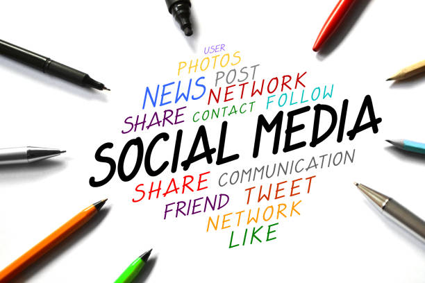 Social media conept stock photo