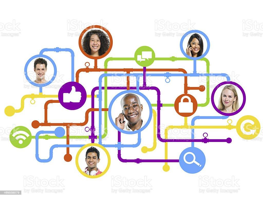 Social Media Connection stock photo