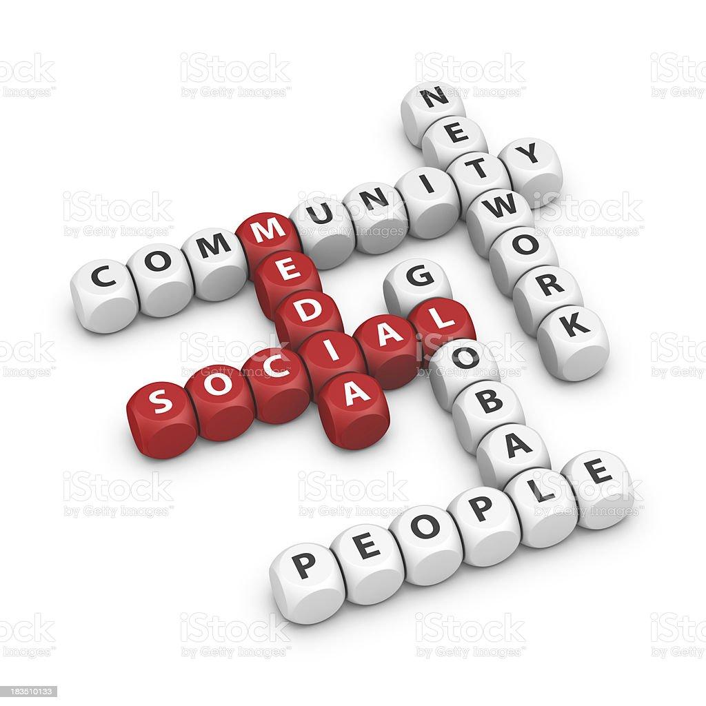 social media crossword royalty-free stock photo