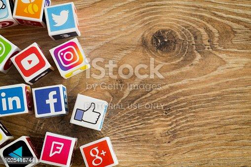 istock Social media cubes 1025416744
