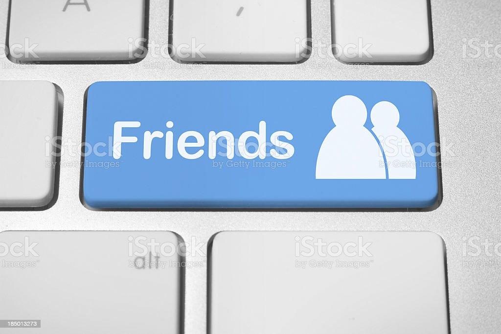 Social media friends stock photo