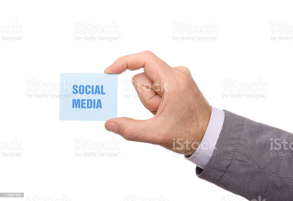Social media greeting card royalty-free stock photo