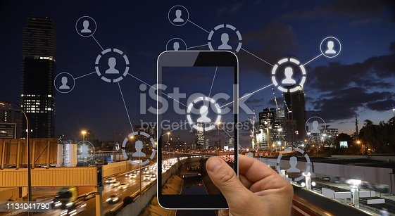 1125605742istockphoto Social media icon computer network connection community people mobile phone app 1134041790