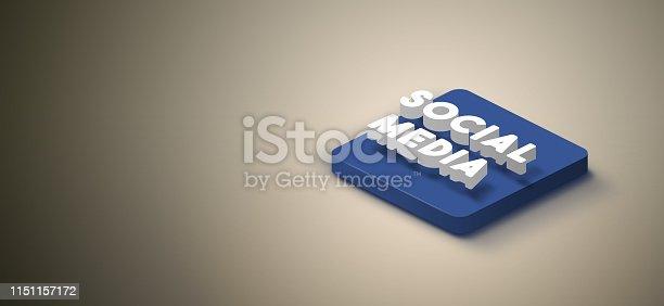 istock 3D social media icon 1151157172