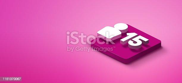 1155191162istockphoto 3D social media icon 1151370067