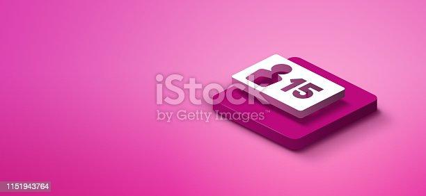 1155191162istockphoto 3D social media icon 1151943764