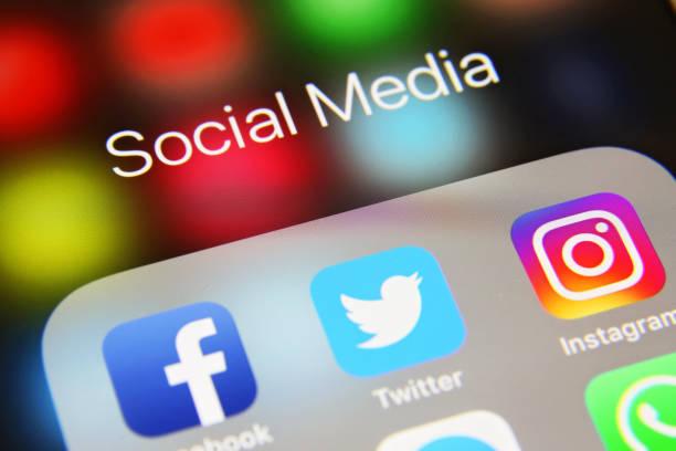 社交媒體圖示互聯網應用程式應用程式 - twitter 個照片及圖片檔