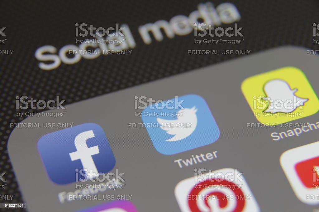 Social-Media-app Symbole Internetanwendung – Foto