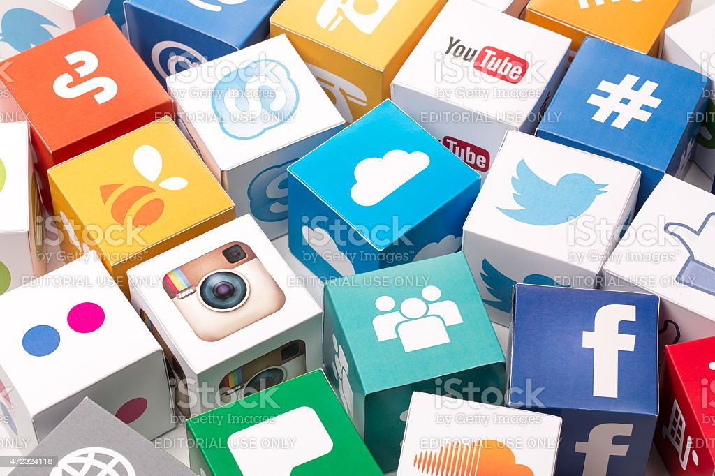 Iconos de redes sociales - foto de stock