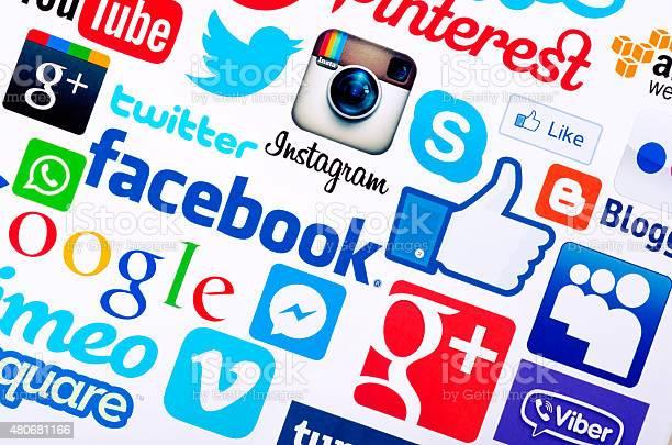 Socialmediasymbole Stockfoto und mehr Bilder von 2015