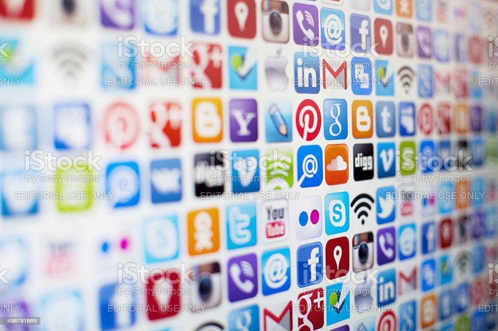 Social media icons royalty-free stock photo