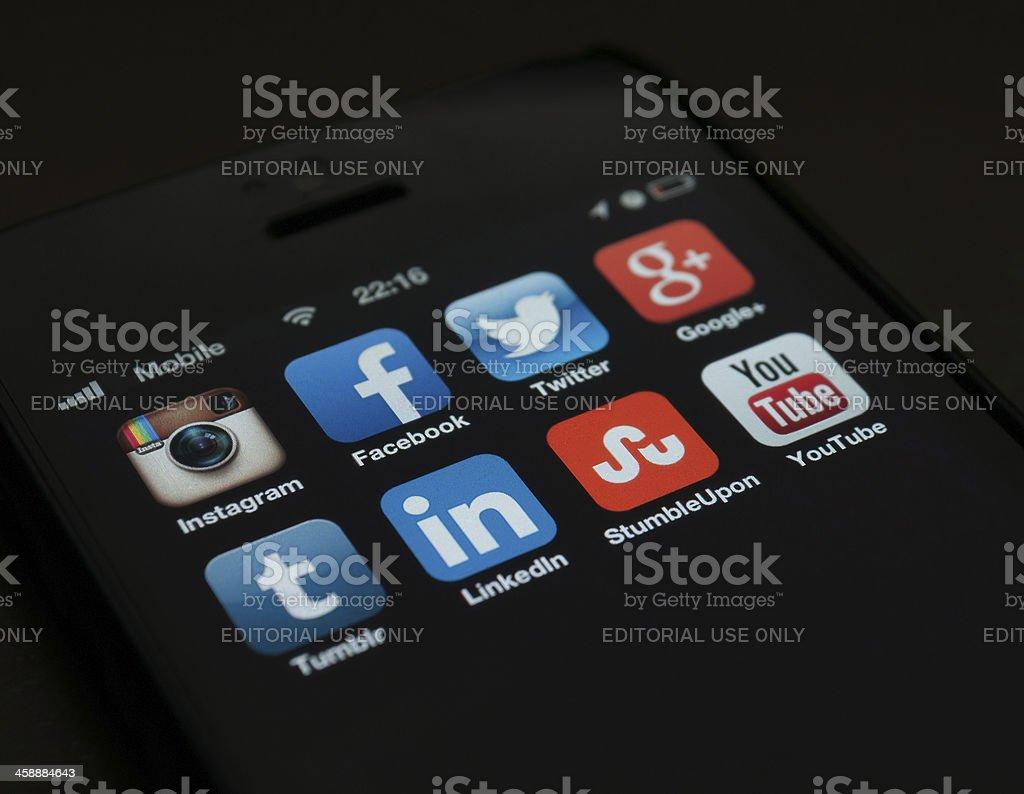 Social Media Icos royalty-free stock photo