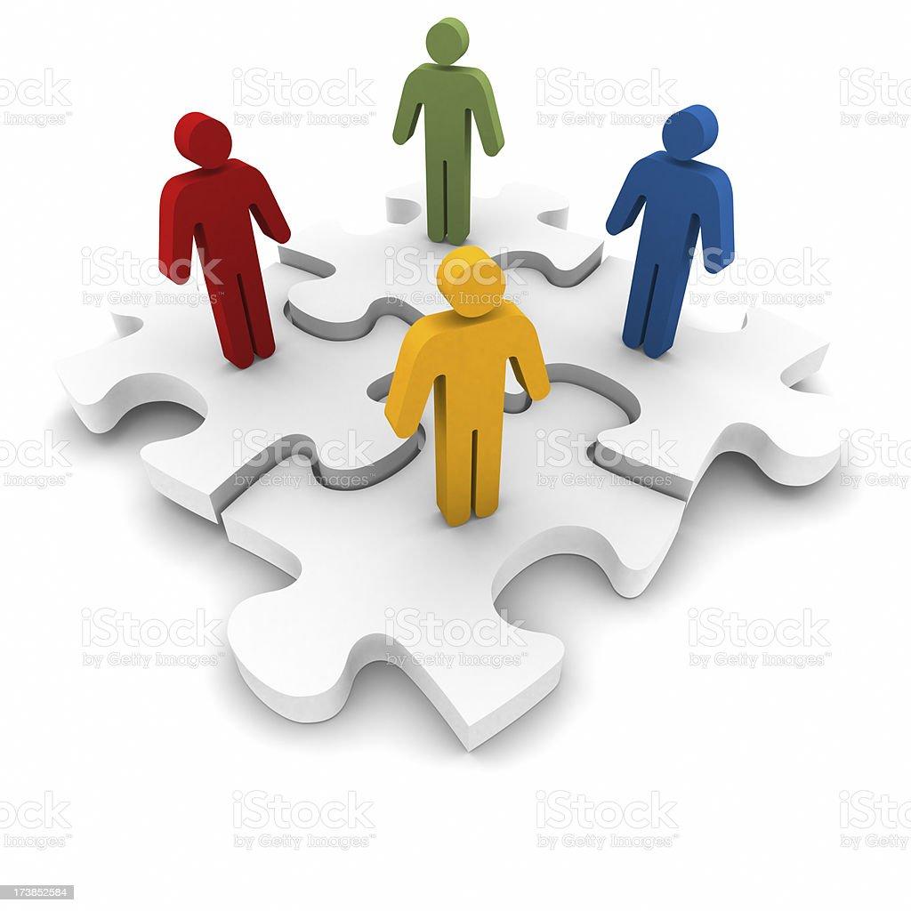Social Media Jigsaw Puzzle royalty-free stock photo