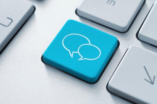 Social Media Key Stock Photo - Download Image Now