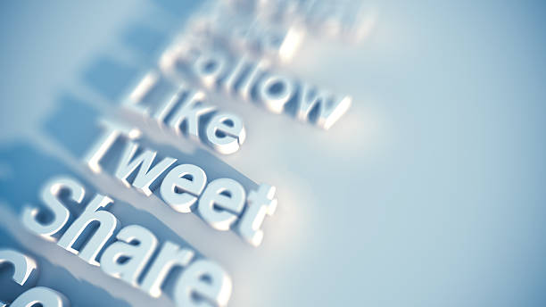 Social media keywords stock photo