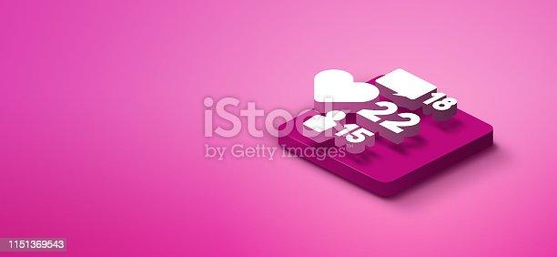 1155191162istockphoto 3D social media like icon 1151369543