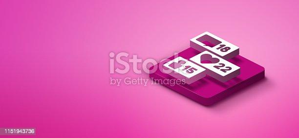1155191162istockphoto 3D social media like icon 1151943736