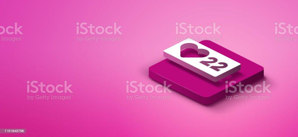 3D social media icon not vector