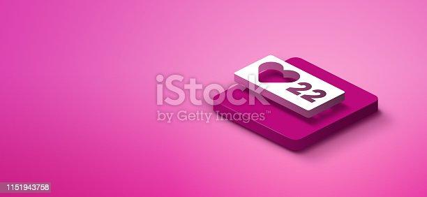 1155191162istockphoto 3D social media like icon 1151943758