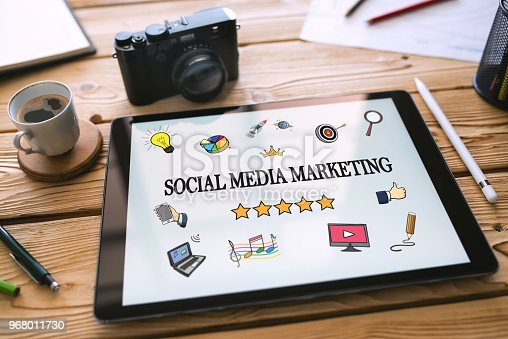 Social Media Marketing Concept on Digital Tablet Screen