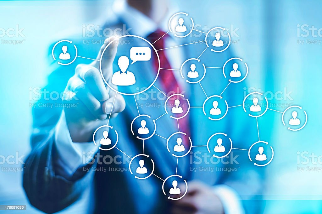 Social media marketing illustration stock photo
