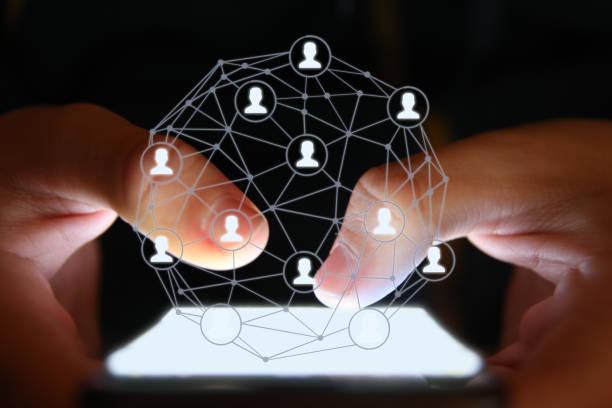 Social Media Marketing Netzwerk Kommunikation Handy App – Foto