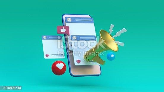 istock Social Media Megaphone Concept 1210806740