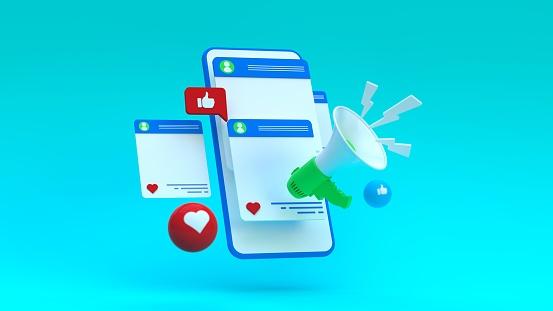 istock Social Media Megaphone Concept 1210808235