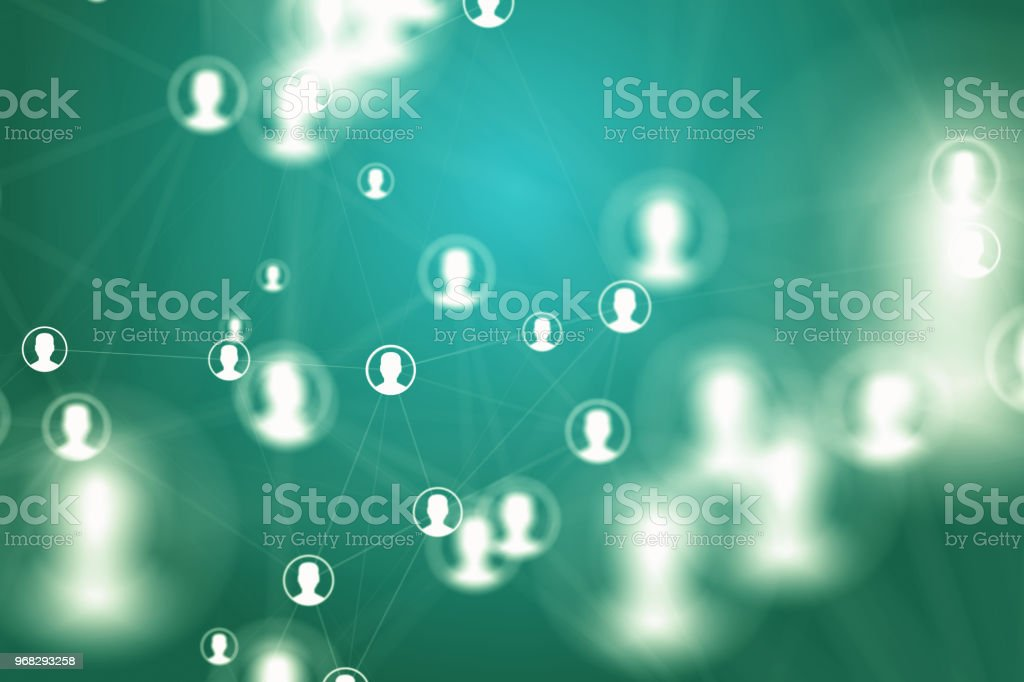 social media network backgrounds stock photo