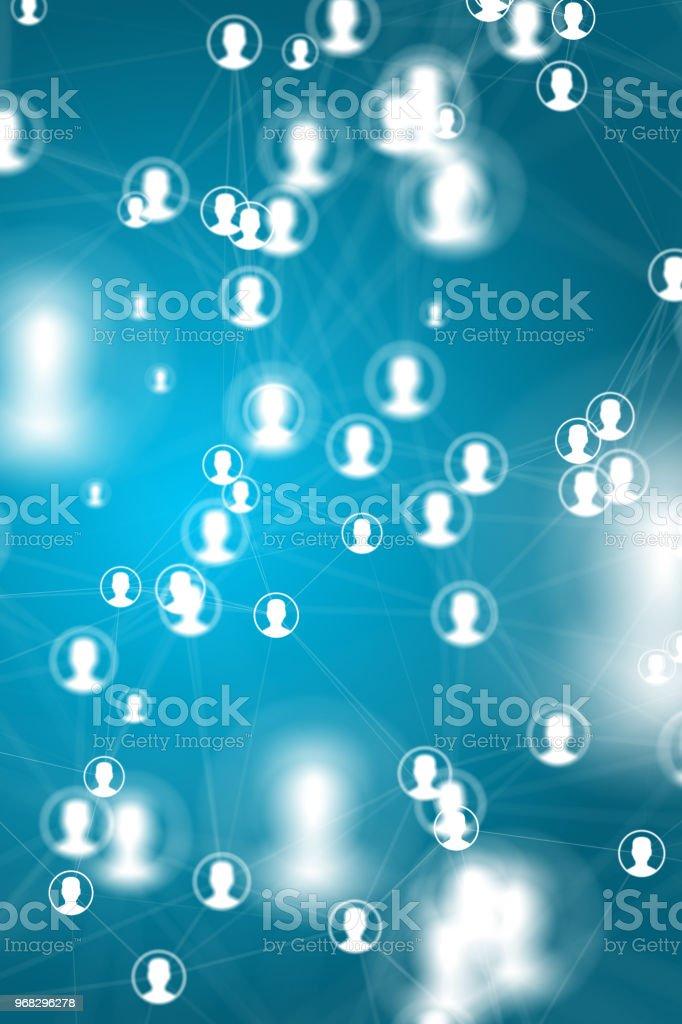 origines du réseau des médias sociaux photo libre de droits